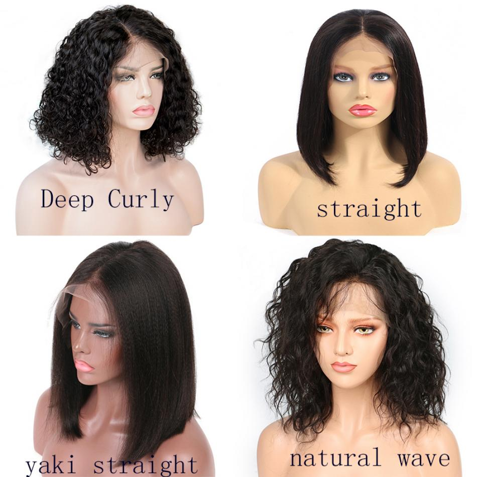 Brazilian Lace Front Human Hair Wigs For Black Women Natural Wave Short Bob Wigs With Baby Hair 10inch